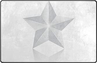 pengyong 3D Silver Star Non-Slip Floor Mat Home Decor Door Carpet Entry Rug Door Mat for Outdoor/Indoor Uses