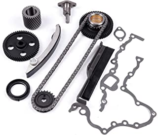 SCITOO Timing Chain Kits fits for Timing Chain engin 2006 2007 2008 MITSUBISHI 4M40 SINGLE CHAIN ALL MODEL 2001 2002 Canter FB5111995 1996 Delica PD8W (Imp) 1995 1996 Pajero NJ