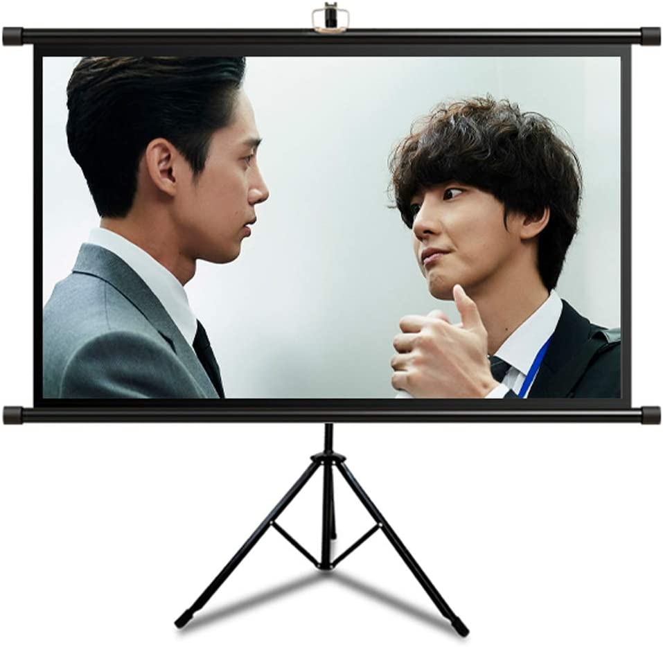 GELEI Projection Screen, Home Projector Floor Stand Screen, Outdoor Movable High-Definition Simple Projection Screen,16:9,72 inch