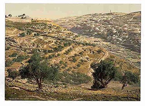 Muestra del Metal de siloé y el Valle Tyrophean Jerusalén A4 12X8 Impresión de aluminio