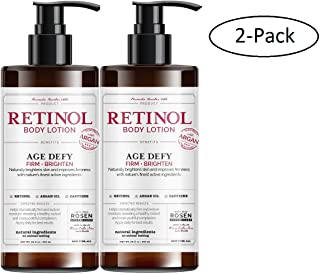 Rosen Apothecary Anti-Aging Retinol Body Lotion - Age Defy - Body Firms and Brightens - 2 Pack