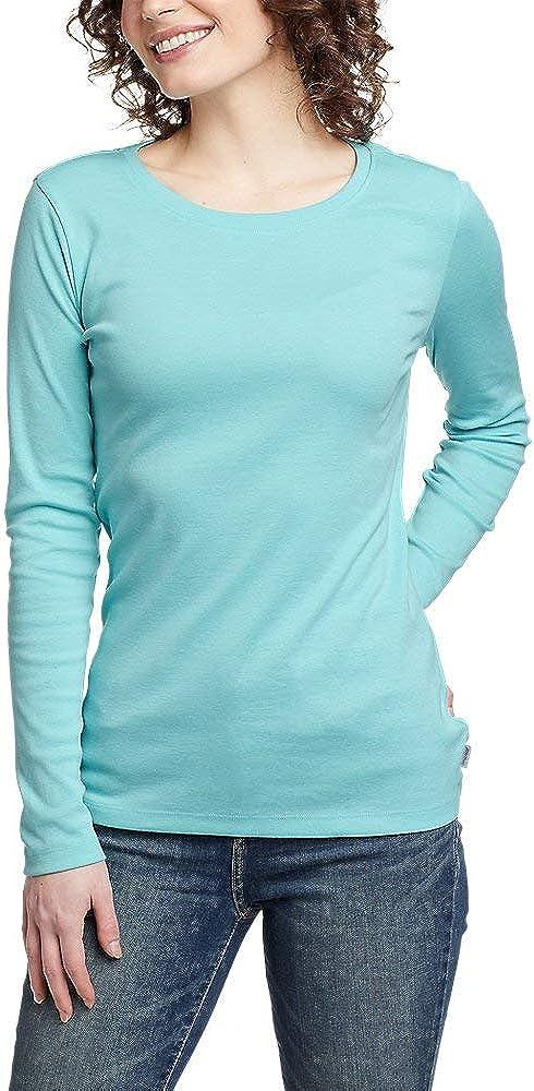 Eddie Bauer 日本正規代理店品 格安 Women's Favorite Long-Sleeve Crewneck T-Shirt Water