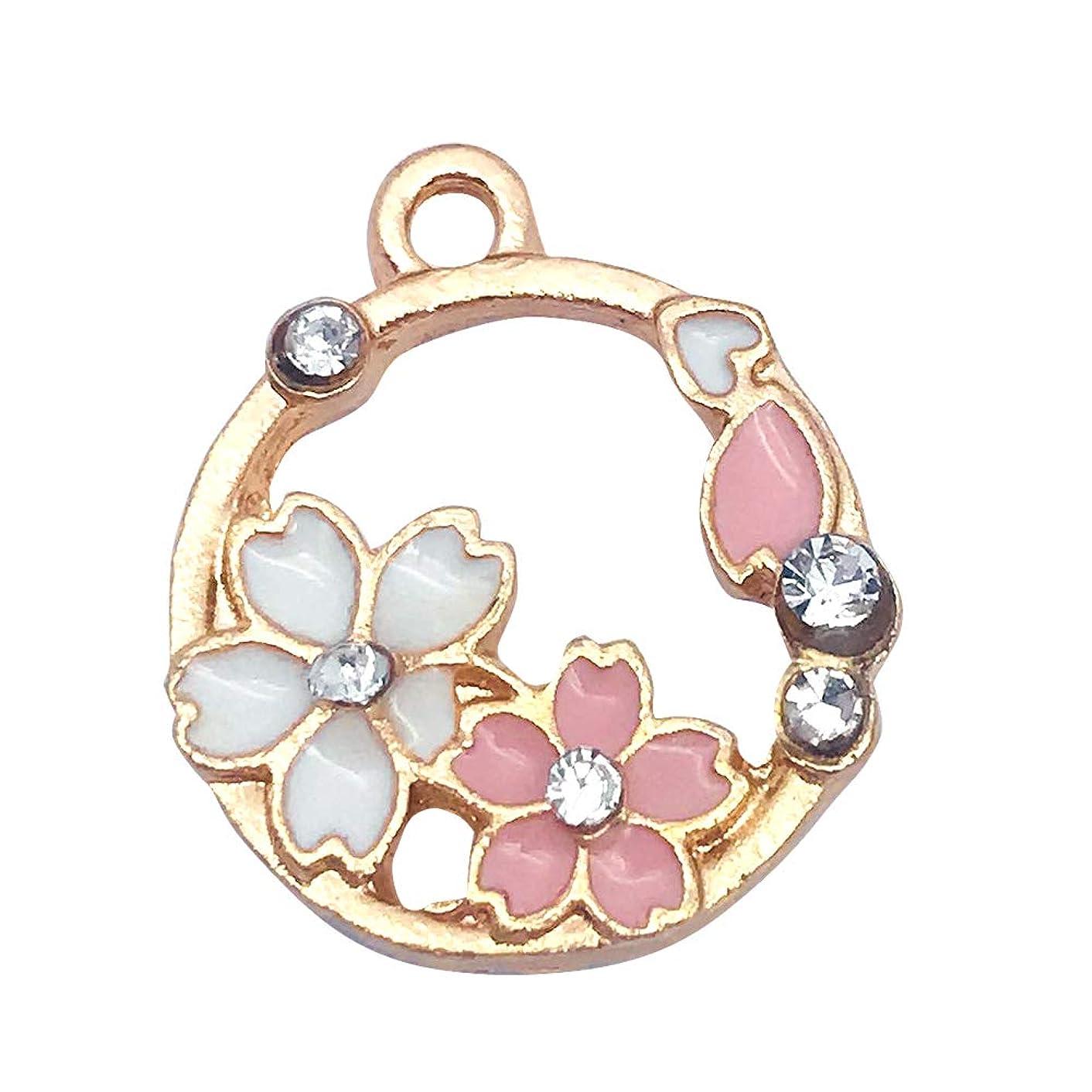 M296-E 8pcs New Cute Pink Little Garlands Bracelet Charms Pendants Wholesale
