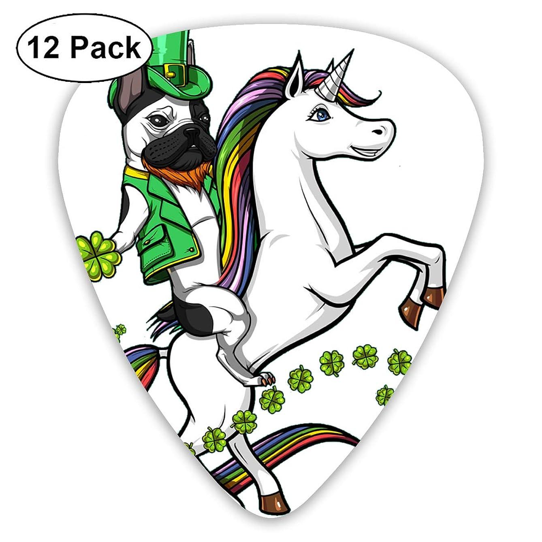 Leprechaun Bulldog Unicorn Rainbow St Patricks Day Bendy Ultra Thin 0.46 Med 0.73 Thick 0.96mm 4 Pieces Each Base Prime Plastic Jazz Mandolin Bass Ukelele Guitar Pick Plectrum Display