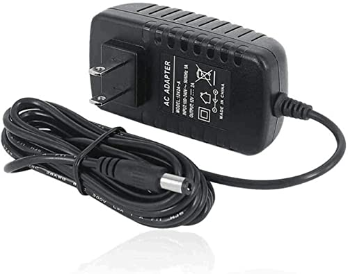 TMEZON 12 Volt 2A Power Adapter Supply AC to DC 2.1mm X 5.5mm Plug 12v 2 Amp Power Supply, Wall Plug Extra Long 8 Foo...