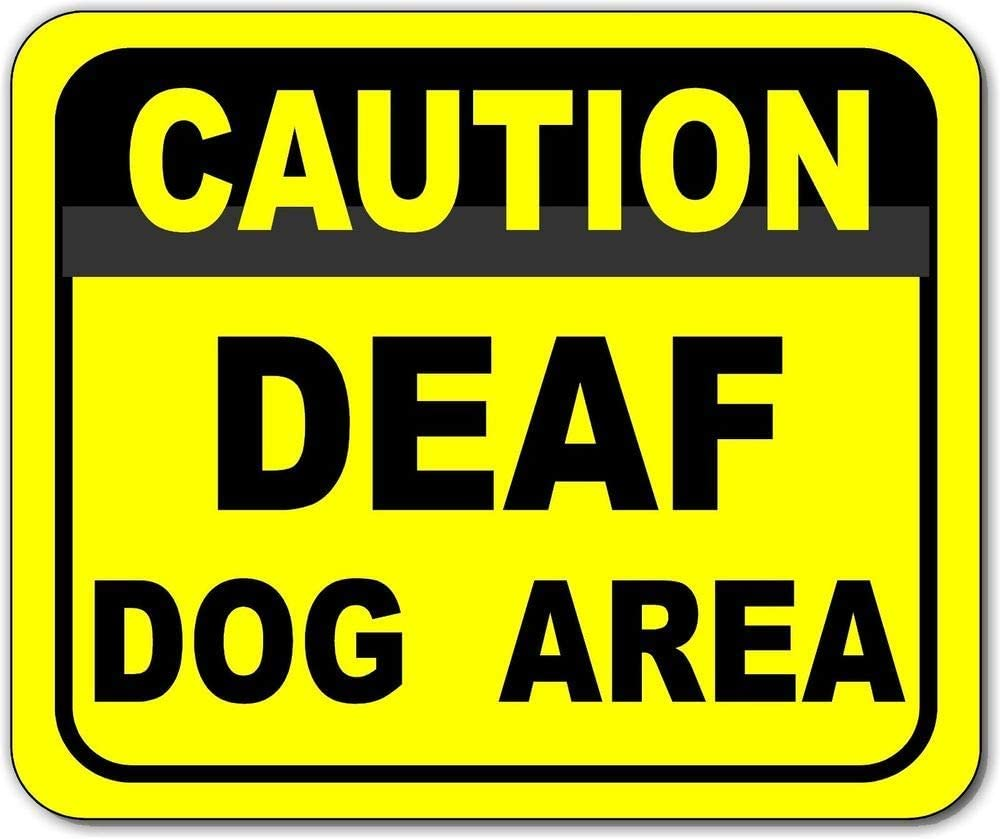 Joycenie New NEW before selling Metal Aluminum Sign Caution S Outdoor Clearance SALE Limited time Dog Area Deaf