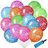 Xionghonglong Globos de Colores Feliz cumpleaños,Globos de Colores Metalizados de Látex,Globos Fiesta Cumpleaños Infantil,Globos Confeti Colores,Globos de Confeti (Color)