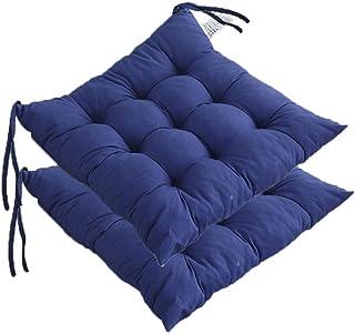 DPLLM Pack de 6 Cojines de Asiento y Silla, 4 Cojines for Silla 100% algodón Funda de Polyster 40x40 cm for Interior y Exterior Cómodo e Impermeable (Color : Set of 2, Size : 17.7
