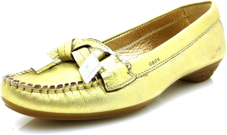 Geox Damen Mokassin D Erin Erin A polished Nappa Gold Lederschuhe  sehr gefragt sein