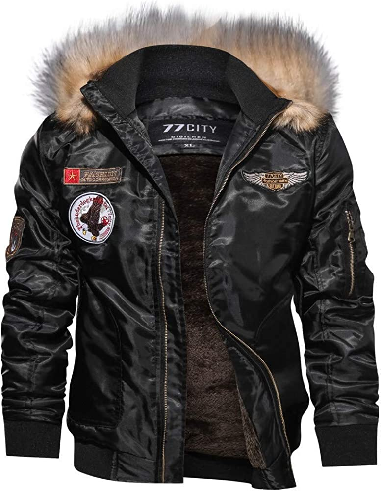 FIRERO Men's Winter Casual Thicken Multi Pocket Outwear Jacket Coat with Removable Hooded