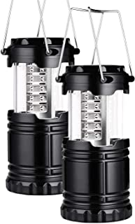 Nature Dream 2 Pack Portable LED Camping Lantern Flashlights Survival Kit for Emergency, Hurricane, Outage