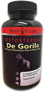 Testosterona de Gorila; Píldoras Estimulantes de la Testosterona (Natural); Conviértete en un Gorila Alfa; Para el Desarrollo Anabólico de los Músculos y Más (Totalmente Legal); 90 cápsulas