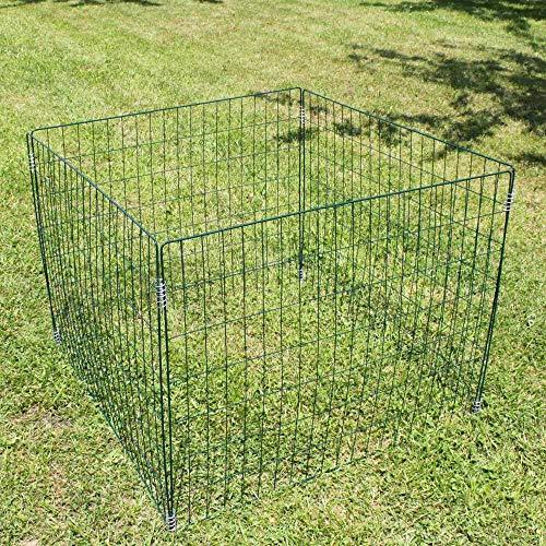 ESTEXO Metall Komposter Gartenkomposter 90x90x70 cm Drahtkomposter Metallgitter grün Metallkomposter Draht Welpenauslauf Auslauf Drahtgitter