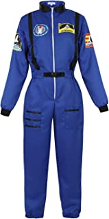 Women Astronaut Costume Adult Coveralls Space Suit Dress up Costume