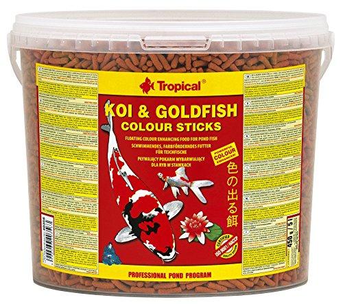 Alimento para peces tropicales Koi y pez dorado que aumenta el color para peces de estanque, cubo de...