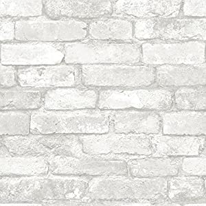 3d Brick Wallpaper Removable Peal And Stick Wall Sticker For Living Room Kitchen 60x60cm White Amazon Co Uk Diy Tools