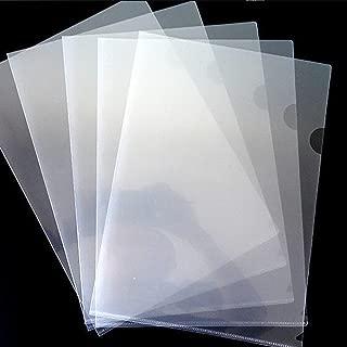 10pcs A4 Clear L-Shape File Holder Single Layer Transparent File Organizer