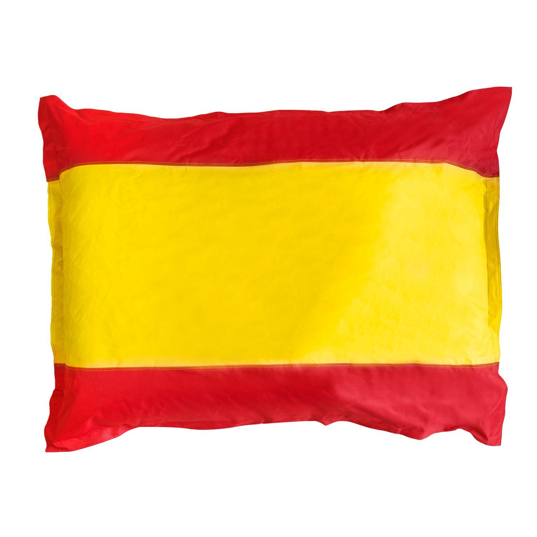 Lumaland PUF Bandera España PUF otomano Puff XXL 140 x 180 cm 380l para Interiores y Exteriores: Amazon.es: Hogar