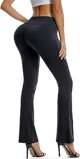 SEASUM Bootcut Yoga Pants for Women Stretch High Waist Workout Bootleg Pants Tummy Control, Long Flare Pants Trousers