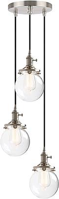 Phansthy Double 16.6CM Applique Murale Industrielle Lampe Murale Vintage E27 Luminaires en Métal pour Grenier, Cuisine,Salle à Manger(ampoule non incluse) Vernis