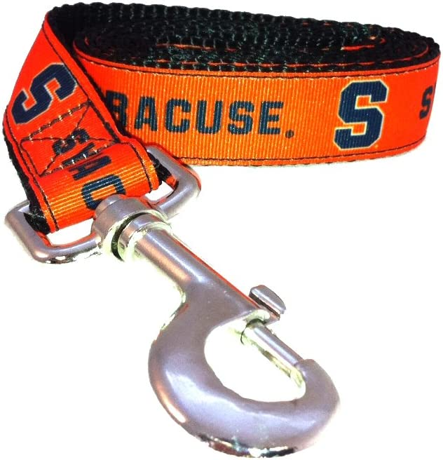NCAA Syracuse Orange Dog Opening large release sale Leash X-Small 4-Feet Excellent