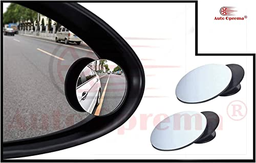 Auto Oprema IPOP 360° Rotatable Blind Spot Mirror for Car Wing Adjustable HD Wide Angle Convex for Cars, SUV, Vans, T...
