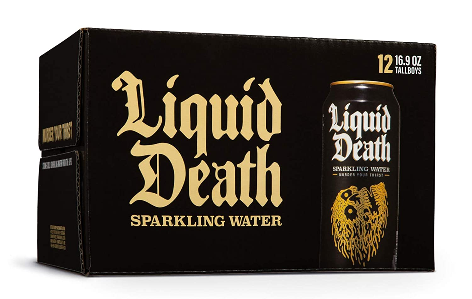 Liquid Death Online wholesale limited product Sparkling Water 16.9 Tallboys 12-Pack oz.