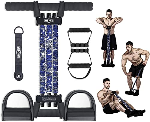 new arrival INNSTAR Pedal Resistance Band, 4 Models Multifunction Pull Rope Fitness Equipment, Upgraded 3-Bands Natural Latex Full Body Workout for lowest ABS, outlet sale Waist, Arm, Chest Stretching Slimming sale
