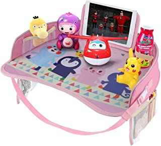 Goodstuffshop Kids Travel Tray, Car Seat Activity Snack and Play Tray, for Children or Toddlers, Fun Lap Desk for Kids wit...