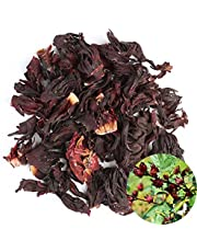 TooGet Organic Dried Hibiscus Flowers, 100% Natural Premium Quality Whole Flower Not Cut, Herbal Teas Wholesale, Top Grade - 4 OZ