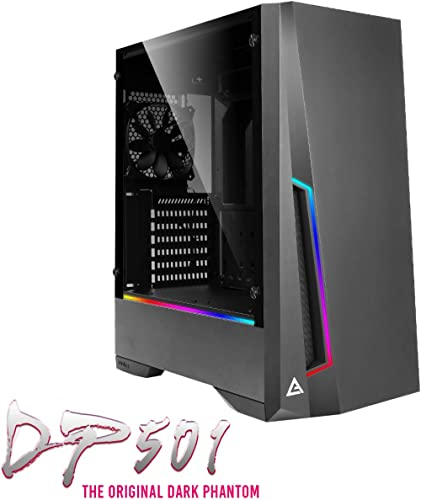 Antec DP501 Mid Tower Gaming Cabinet Support ATX, Micro-ATX, ITX Motherboard with Tempered Glass Side Panel, 1 x 120mm Rear Fan Preinstalled product image