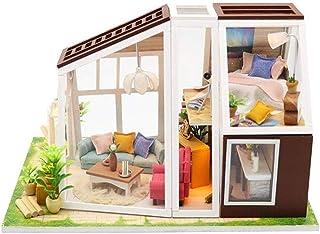 XYZMDJ Dollhouse miniatyr gör-det-själv hus, rum perfekt gör-det-själv present till vänner, älskare och familjer