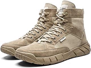 XIEZI Chaussures Militaires Chaussures Spéciales Frosted Respirant Tactiques Bottes Militaires Respirante Haut pour Aider ...