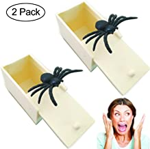 Onene 2 Pack Plastic Prank Spider Scare Box Hilarious Money Gift Box Surprise Toy and Gag Gift Practical Joke
