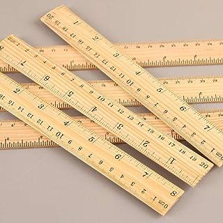 Regla de madera métrica de alta calidad de 15 cm, 20 cm, 30 cm, herramienta de medición de doble cara de precisión, papelería de oficina de aprendizaje, color 30cm