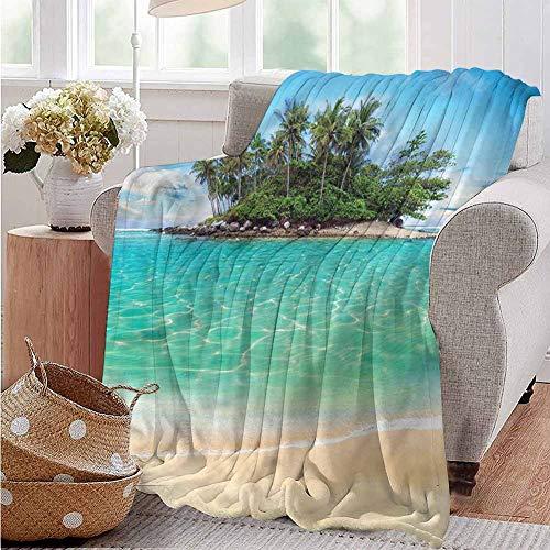 Luoiaax Island Comfortable Large Blanket Honeymoon Destination Ocean Microfiber Blanket Bed Sofa or Travel W70 x L84 Inch