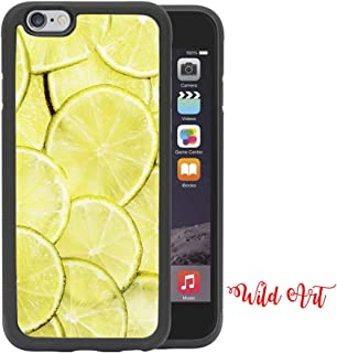 iPhone 8 CASE - Lime Lemons Wallpaper Fruit Summer iPhone 8, 4.7 Rubber TPU Silicone Phone Case