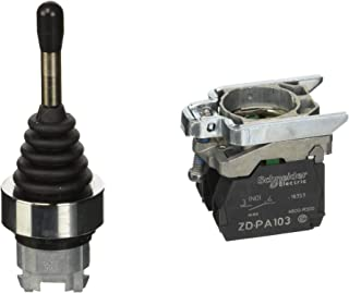 Schneider Electric Joystick XD4 PA22 Driver, 2, 3 Positions, 1 Address NA, Spring Return to Position 0 Operator, 22 mm Dia...
