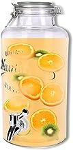 Schramm® Drankdispenser ca. 3,8 liter met draadbeugelsluiting 32 cm Ø 14 cm kraanfles weckglas-look sapdispenser