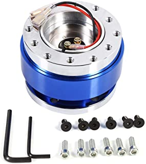Qiilu Universal 6 Hole Bolt Ball Steering Wheel Quick Release Hub Adapter Snap Off Boss Kit(Blue)
