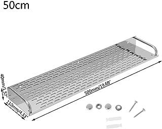 Lailongp - Estantería de pared para cocina o baño (una sola capa, acero inoxidable), Acero inoxidable, Als Bild Zeigen, 50 cm