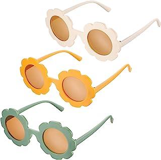 3 قطع نظارات شمسية مستديرة على الشاطئ لطيفة في الهواء الطلق نظارات شمسية للأطفال