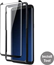 Olixar Screen Protector for Samsung Galaxy S8 - Tempered Glass - Case Compatible Screen Protection - Easy Install/Installation Tray Included - 9H Hardness, Anti Scratch - Easyfit - Black