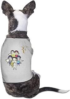 Cute Funny Roger Federer Cartoon Pet Dog T Shirt.