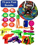 JA-RU Pool Toys 70 Pcs Bundle Kids Swimming Water Pool Party Goggles Splashers Balloons Filter & Collectable Bouncy Ball Items # 179-877-6434-858-4x1170