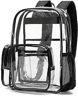 clear black backpack