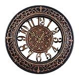 Bento Reloj de Pared de Estilo Vintage, Reloj analógico sil