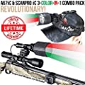 Wicked Lights A67iC & ScanPro iC 3-Color-in-1 (Green, Red, White LED) Night Hunting Light and Headlamp Combo Pack for Coyote, Predator, Varmint & Hogs