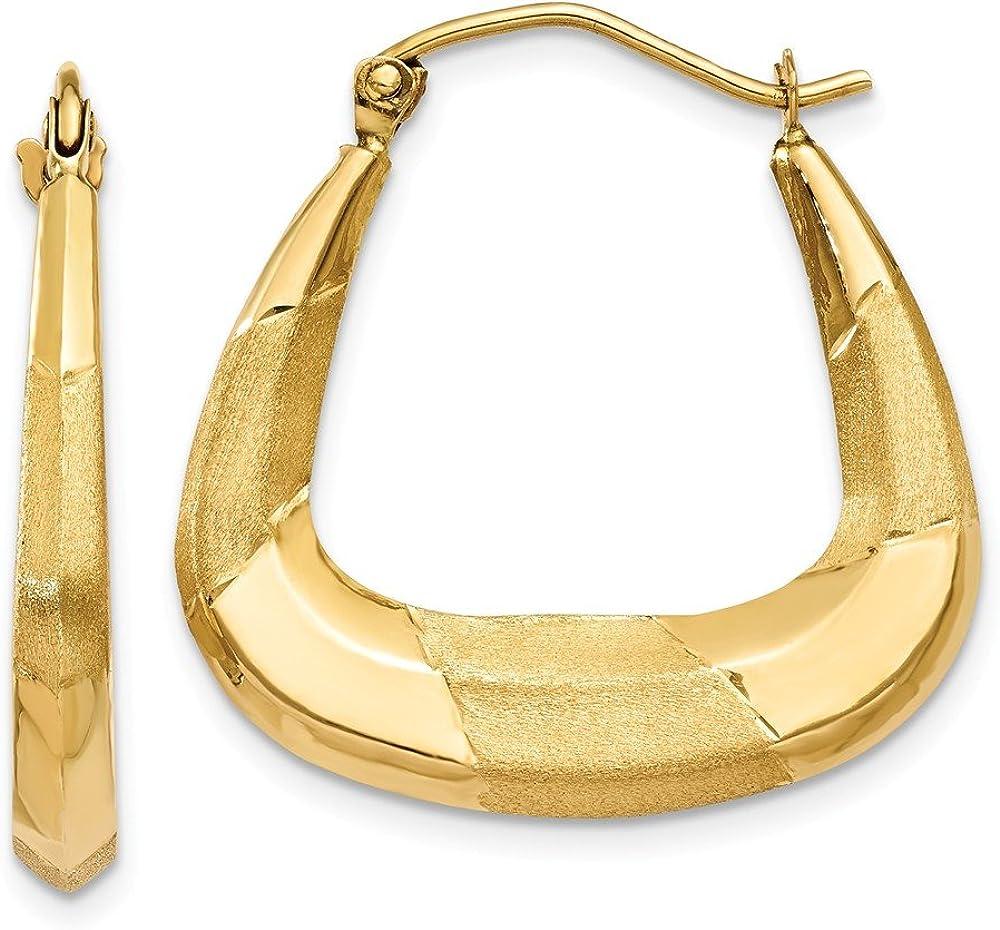 14k Yellow Gold Hoop Earrings Ear Hoops Set Fine Jewelry For Women Gifts For Her
