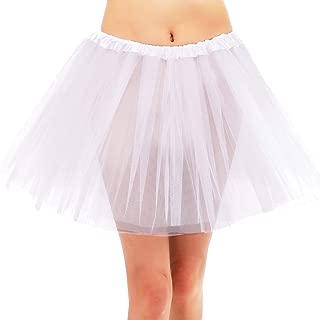 Women's Classic 3 or 4 Layered Adjustable Satin Elastic Waistband Ballet Tutu Skirt